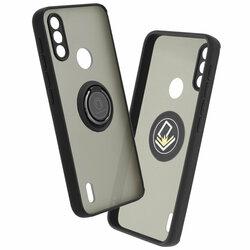 Husa Motorola Moto E7i Power Mobster Glinth Cu Inel Suport Stand Magnetic - Negru