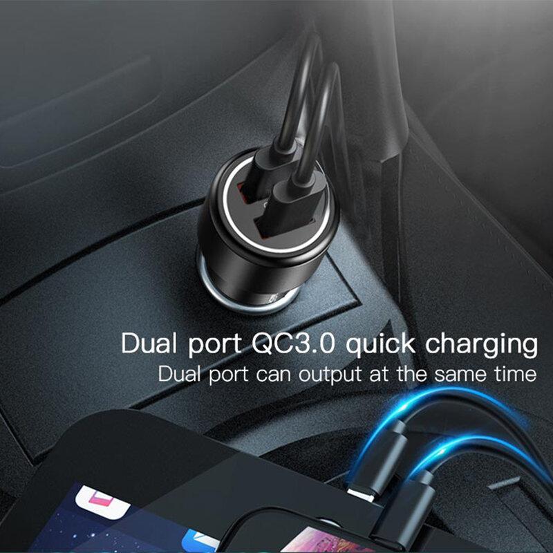 Incarcator auto Fast Charge Yesido Y43 2x USB 3.0, 36W, negru