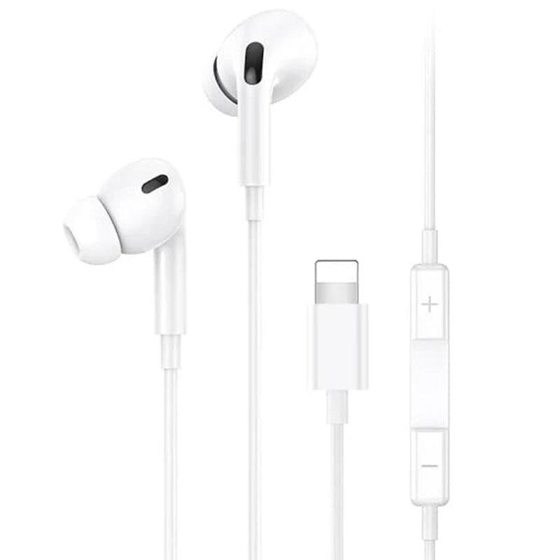 Casti in-ear cu microfon Lightning USAMS EP-41, 1.2m, alb, US-SJ453