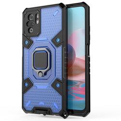 Husa antisoc Xiaomi Redmi Note 10 Techsuit Honeycomb, albastru