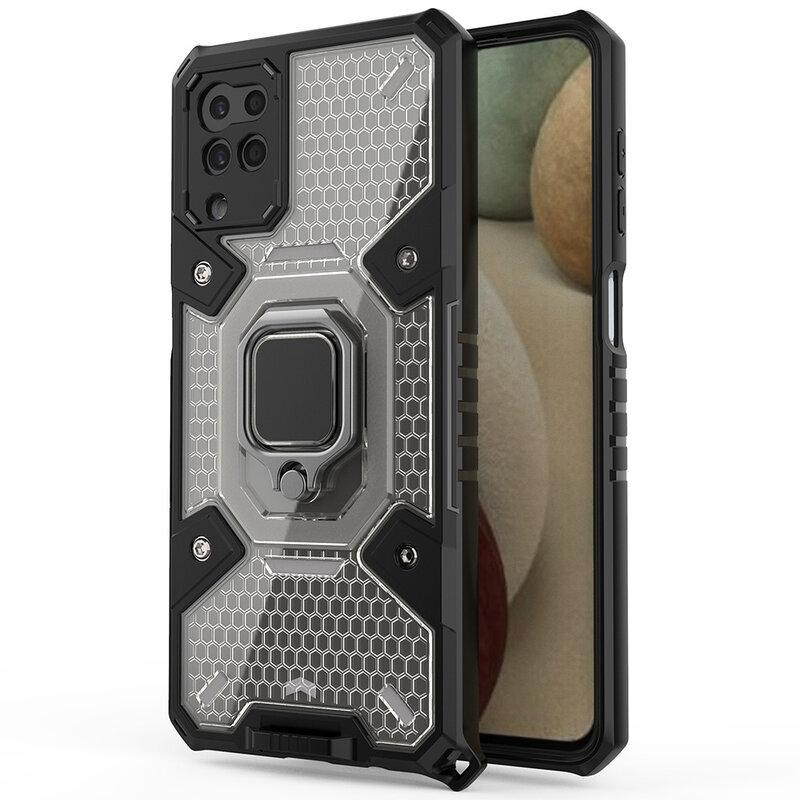Husa antisoc Samsung Galaxy A12 Techsuit Honeycomb, negru