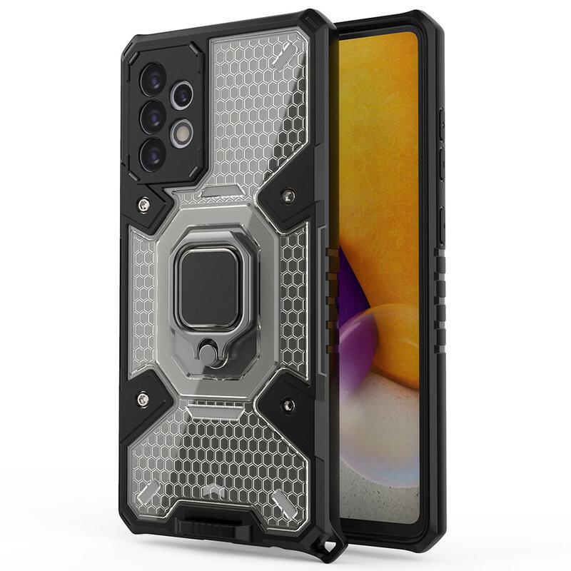 Husa antisoc Samsung Galaxy A72 5G Techsuit Honeycomb, negru