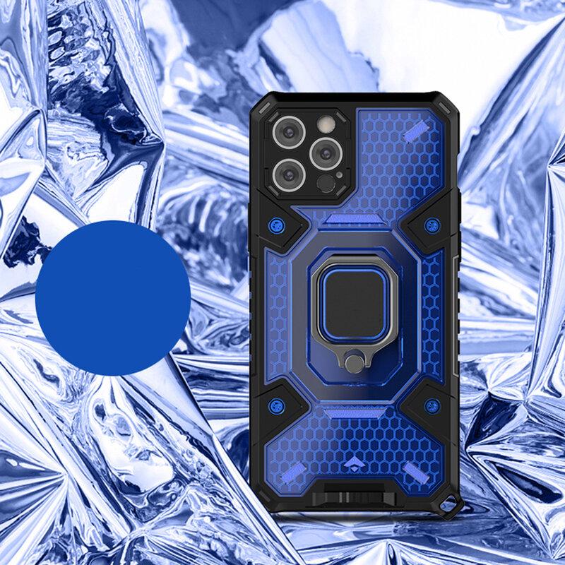Husa antisoc iPhone 12 Pro Max Techsuit Honeycomb, albastru