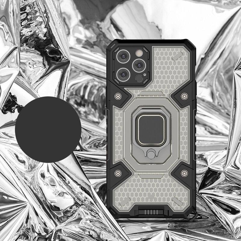 Husa antisoc iPhone 12 Pro Max Techsuit Honeycomb, negru