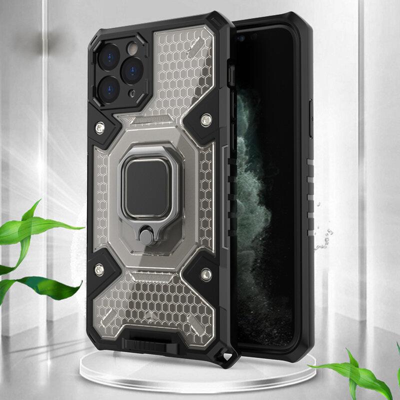 Husa antisoc iPhone 11 Pro Max Techsuit Honeycomb, negru