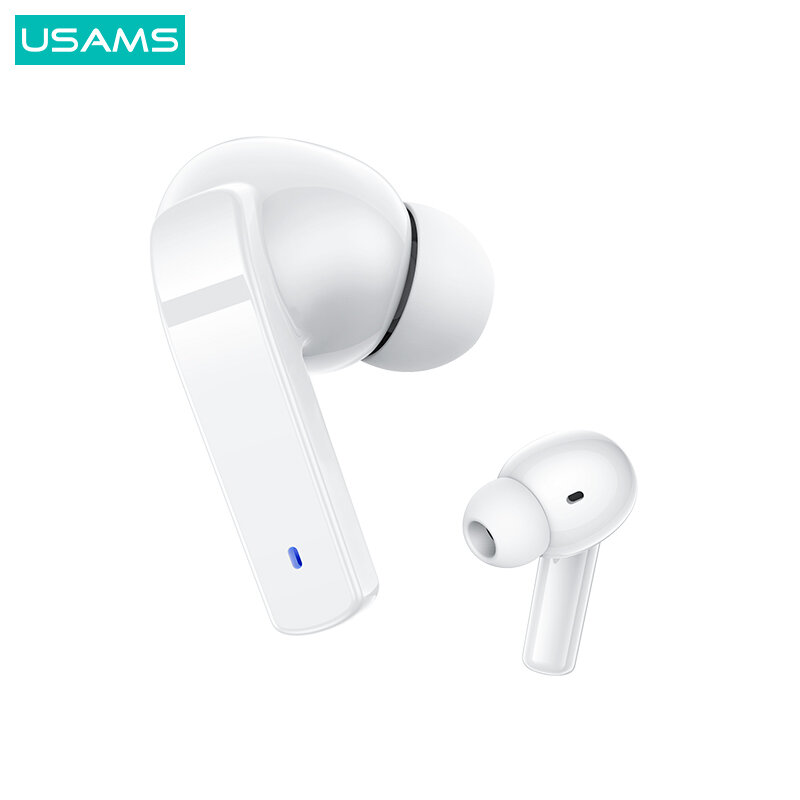 Casti wireless in-ear USAMS, active noise cancelling, alb, LY06