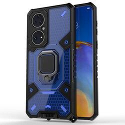 Husa antisoc Huawei P50 Techsuit Honeycomb, albastru