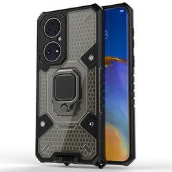 Husa antisoc Huawei P50 Techsuit Honeycomb, negru