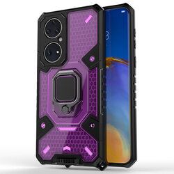 Husa antisoc Huawei P50 Techsuit Honeycomb, roz