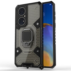 Husa antisoc Huawei P50 Pro Techsuit Honeycomb, negru