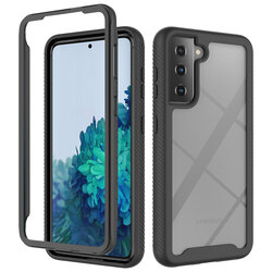 [Pachet 360°] Husa + Folie Samsung Galaxy S21 FE 5G Techsuit Defense, negru