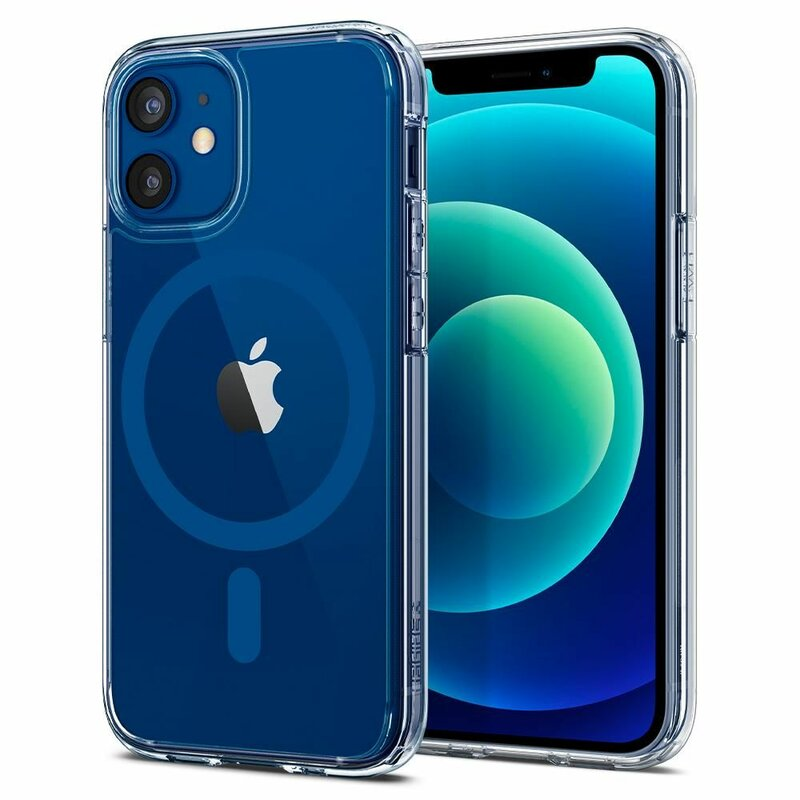Husa iPhone 12 Spigen Ultra Hybrid Mag - Albastru