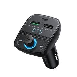 Modulator bluetooth auto FM Ugreen 2x USB, Type-C, MicroSD, negru, 80910