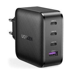 Incarcator Fast Charge GaN X PD 65W 3x Type-C + USB Ugreen, negru, 70774