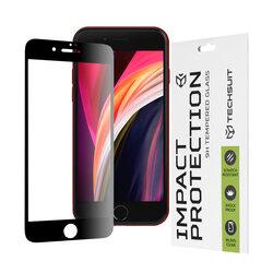 Folie sticla iPhone SE 2, SE 2020 Techsuit 111D Full Glue Full Cover, negru