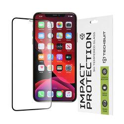 Folie sticla iPhone 11 Pro Max Techsuit 111D Full Glue Full Cover, negru