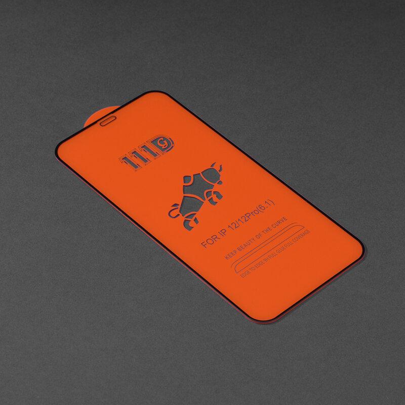 Folie sticla iPhone 12 Techsuit 111D Full Glue Full Cover, negru