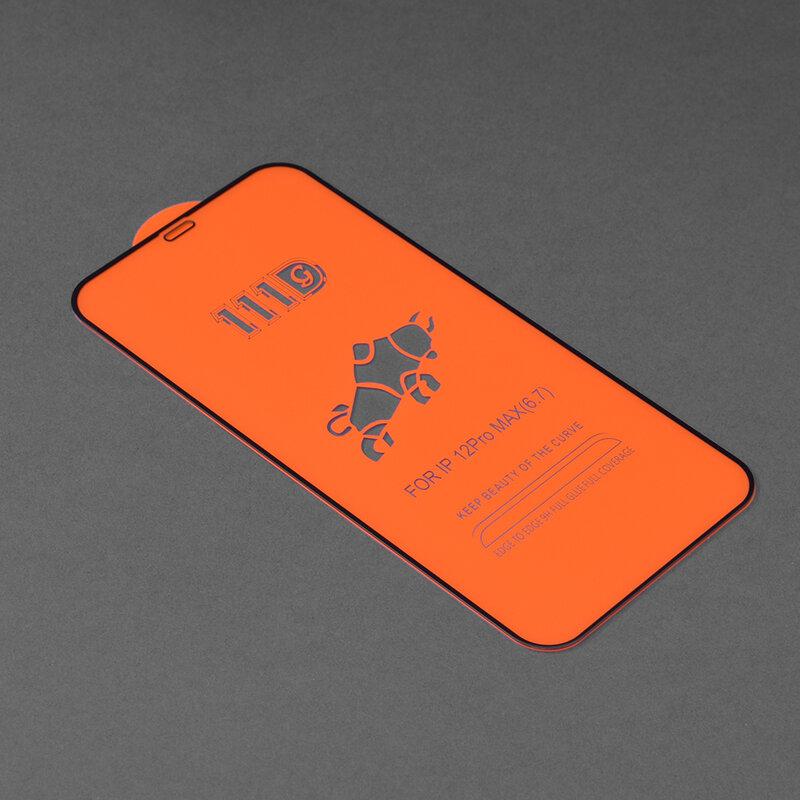 Folie sticla iPhone 12 Pro Max Techsuit 111D Full Glue Full Cover, negru