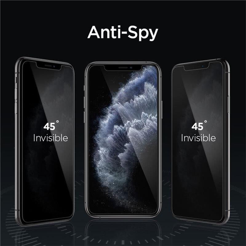 Folie Sticla iPhone 11 Spigen Glas.t R Align Master Privacy - Black