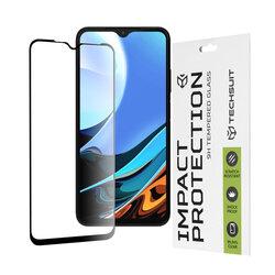 Folie sticla Xiaomi Redmi 9T Techsuit 111D Full Glue Full Cover, negru