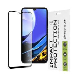 Folie sticla Xiaomi Redmi 9 Power Techsuit 111D Full Glue Full Cover, negru