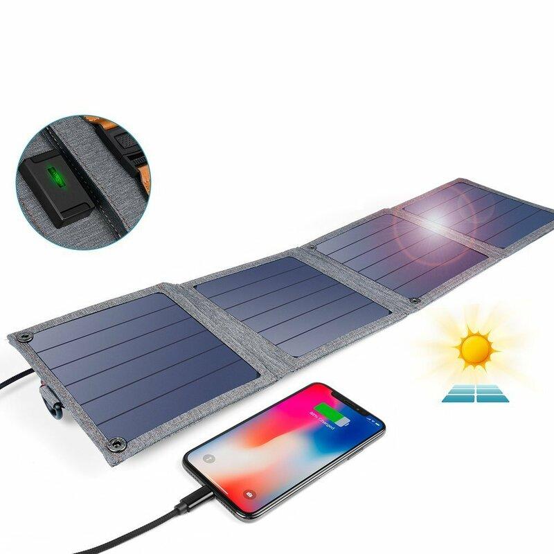 Panou solar portabil camping Choetech, USB-A 2.4A, 14W, SC004