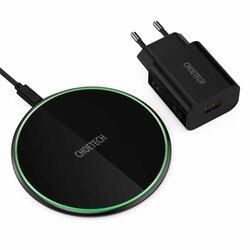 Incarcator wireless Fast Charge 15W + priza 18W Choetech, negru, T559-F