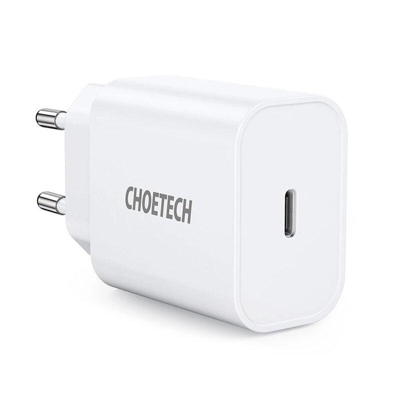 Incarcator priza Choetech, Type-C PD20W, 3A, alb, PD5005