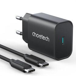 Incarcator priza USB-C Choetech, PD25W + cablu Type-C 2m, PD6003