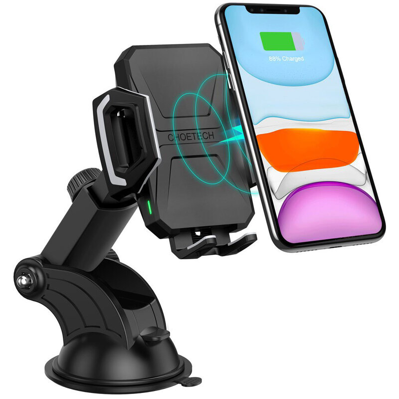 Suport auto wireless charging 10W Choetech, bord, T521-S