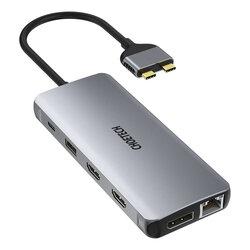 Hub MacBook 2x USB-C la PD100W/ 2x HDMI+DisplayPort 4K/ 4x USB/ RJ45 Choetech M25