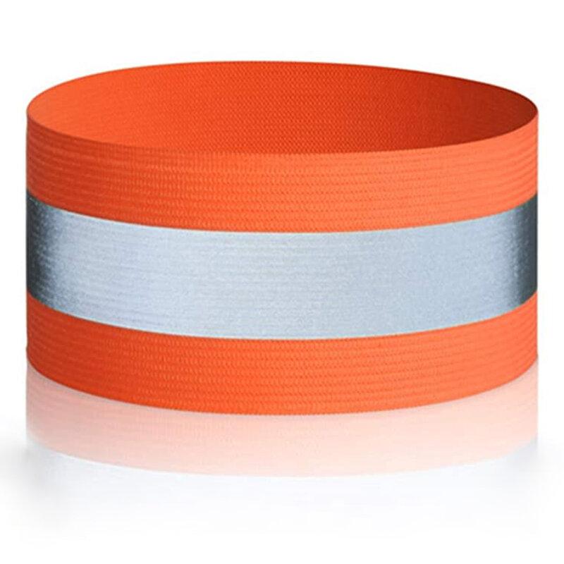 Banda reflectorizanta siguranta brat/ picior, alergare, ciclism, portocalie