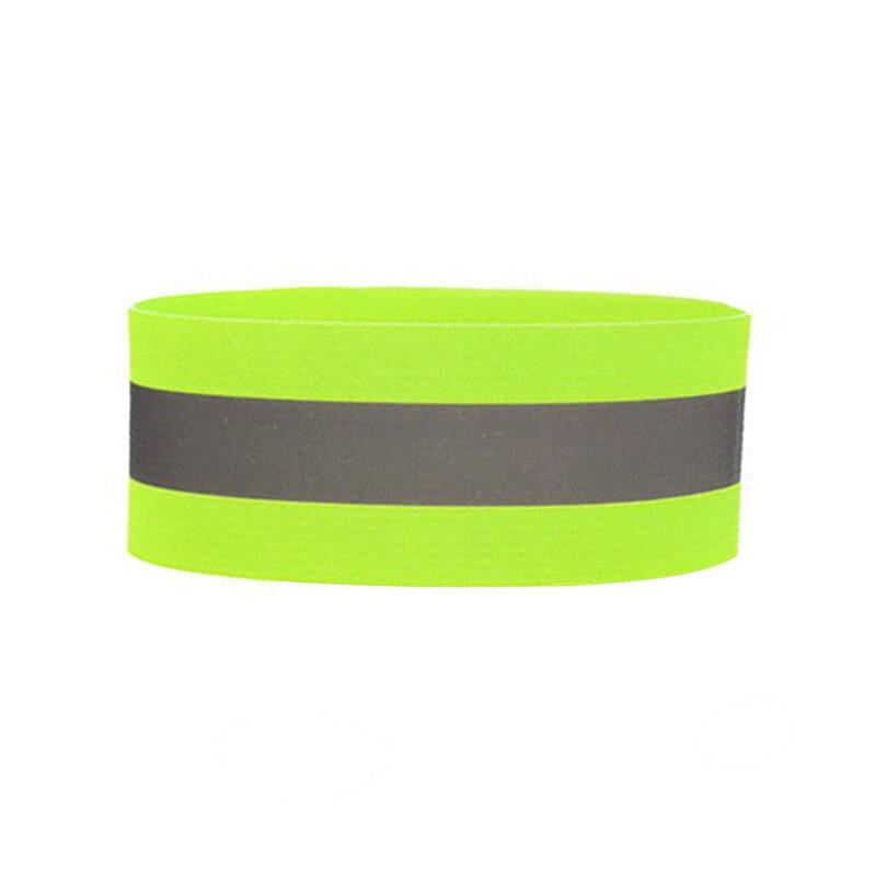 Banda reflectorizanta siguranta brat/ picior, alergare, ciclism, verde