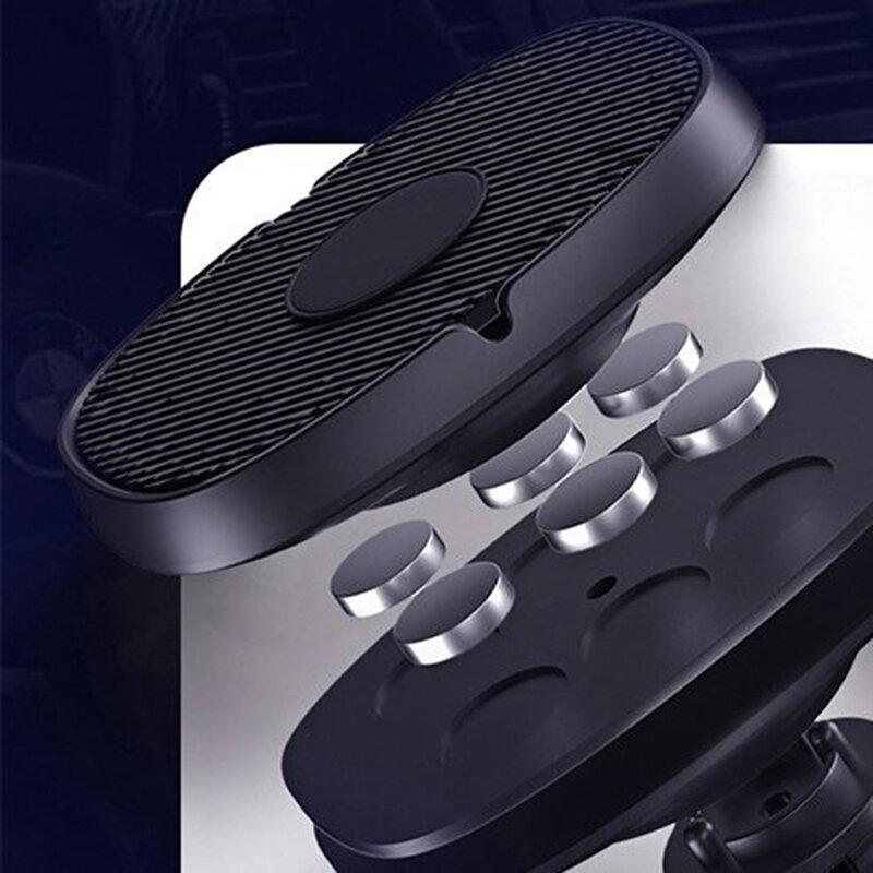 Suport telefon auto magnetic Wozinsky S12 cu adeziv, negru