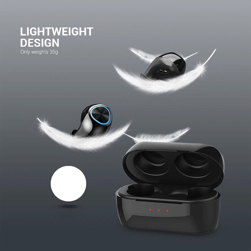 Casti wireless in-ear Remax, Bluetooth earbuds, negru, TWS-16