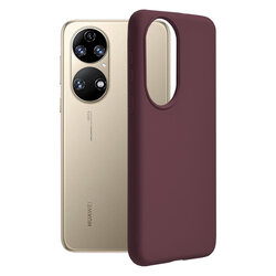 Husa Huawei P50 Techsuit Soft Edge Silicone, violet
