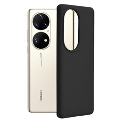 Husa Huawei P50 Pro Techsuit Soft Edge Silicone, negru