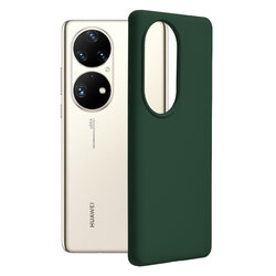 Husa Huawei P50 Pro Techsuit Soft Edge Silicone, verde inchis