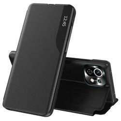Husa Xiaomi Mi 11 Lite Eco Leather View flip tip carte - negru
