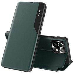 Husa Xiaomi Mi 11 Lite Eco Leather View flip tip carte - verde