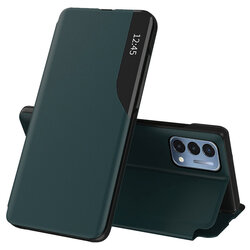 Husa OnePlus Nord N200 5G Eco Leather View flip tip carte - verde
