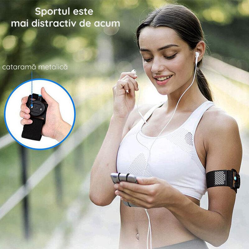 Husa brat telefon pentru alergat, jogging Supcase Armband, negru