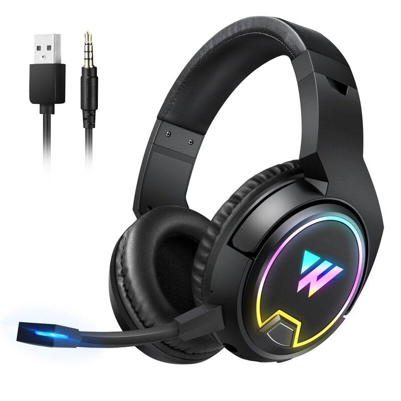 Casti over-ear cu fir Wintory W1, headset gaming wireless, negru