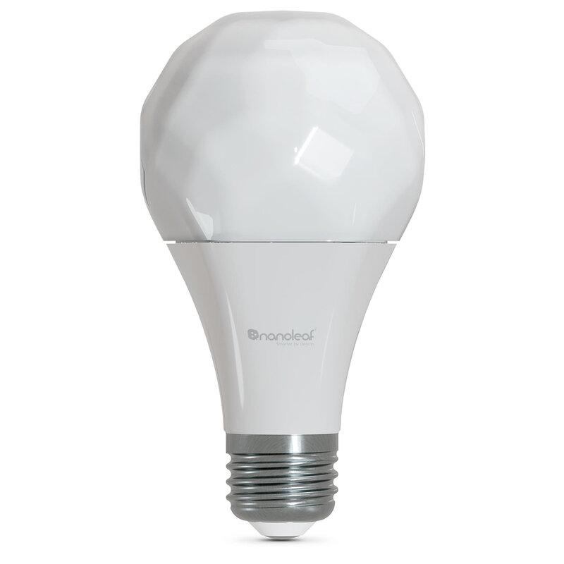 [Pachet 3x] Bec LED inteligent Nanoleaf A60 E27, smart Wi-Fi, 9W