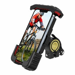 Suport telefon ghidon bicicleta/ moto JoyRoom, negru, JR-ZS264