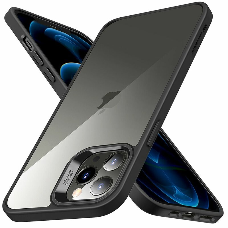 Husa iPhone 12 ESR Classic Hybrid Din Policarbonat Transparent - Negru