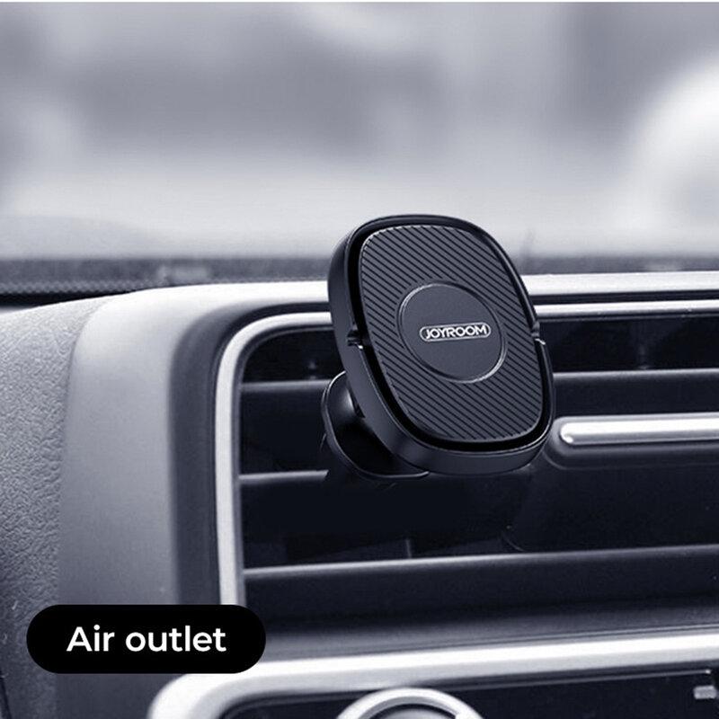 Suport telefon magnetic JoyRoom, grila ventilatie, negru, JR-ZS202