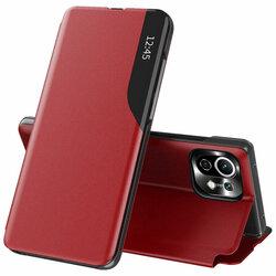 Husa Xiaomi Mi 11 Lite 5G Eco Leather View flip tip carte - rosu