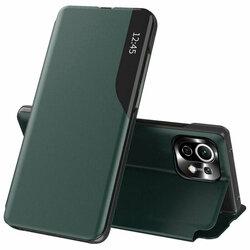 Husa Xiaomi Mi 11 Lite 5G Eco Leather View flip tip carte - verde