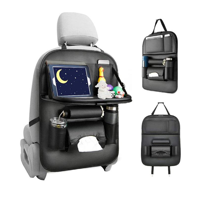 Organizator scaun auto cu masuta, suport pahare, negru